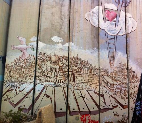 Graffitti på muren