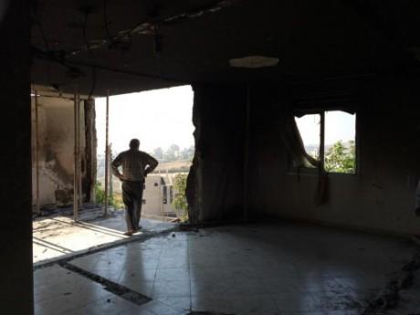 Familjen Abu Eishas hus i Halhul bombades av israelisk militär den 1 juli.