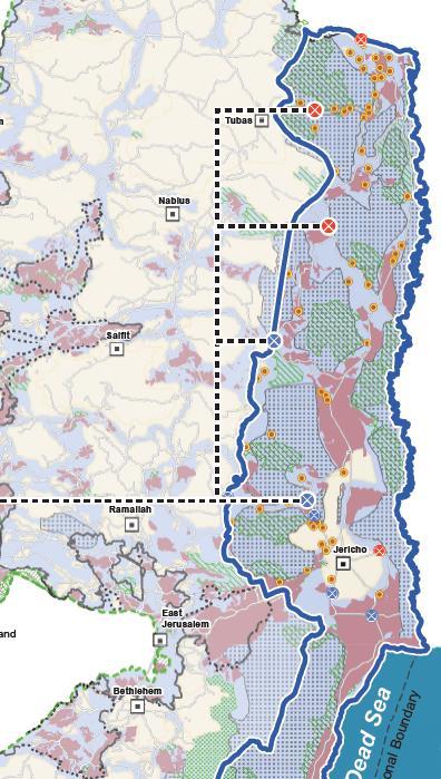 Karta över Västbanken