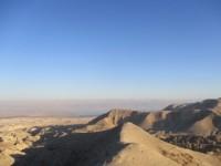 Utsikt över Döda havet från an-Nabi Musa. Foto: Sofia Claesson.