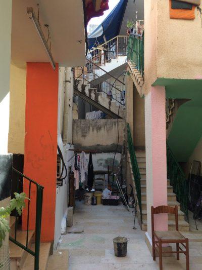 Utsikten vid familjen Jameels hem i Aida flyktingläger. Foto: Susanne