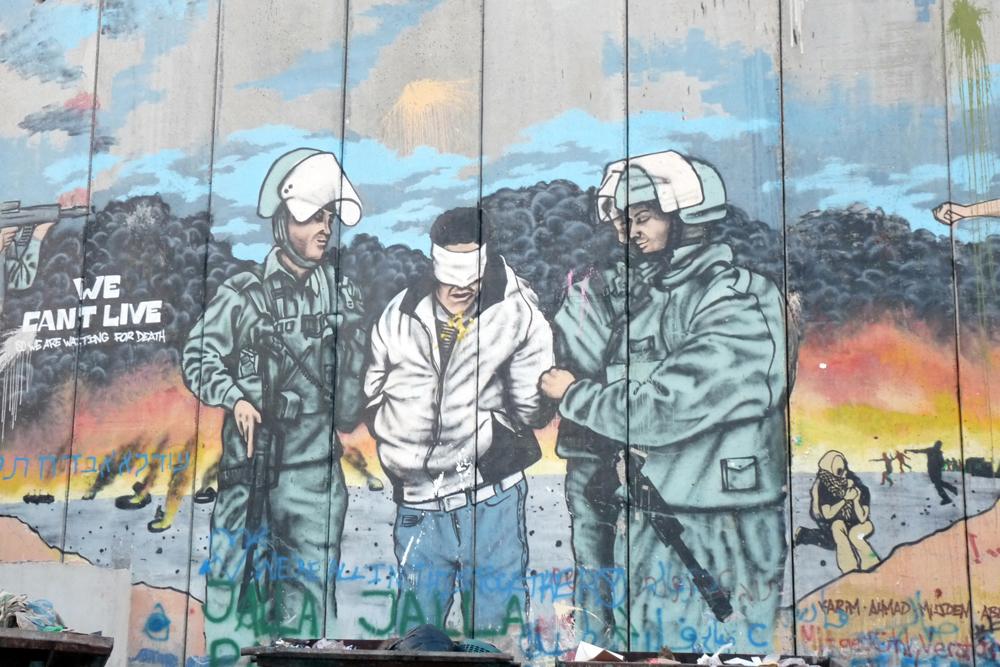 Graffitti med en gripen man