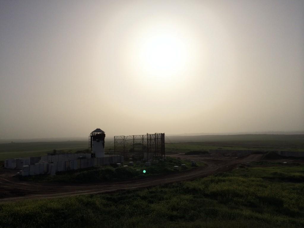 Vakttorn i Israel på gränsen till Gaza