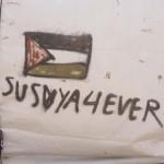 """Någon har klottrat """"Susiya forever"""""""