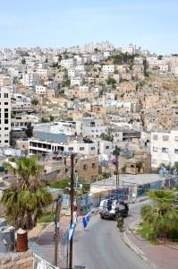 Lördag i Hebron. Utsikt över staden.