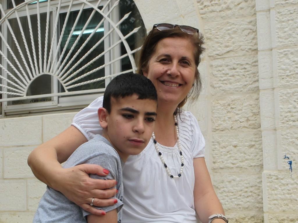 Goda vänner i Vännernas skola i Ramallah.