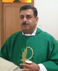Fader Ibrahim under kyrkkaffe.