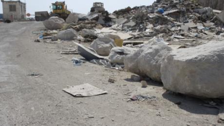 Soptippen i Abu Dis som ligger precis bredvid platsen dit beduinerna kommer att tvångsförflyttas.