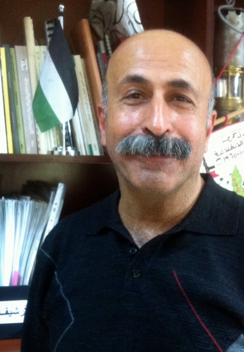 Wael Natheef, generalsekreterare på Palestinska Centrala Fackföreningsorganisationen (PGFTU) i Jeriko.