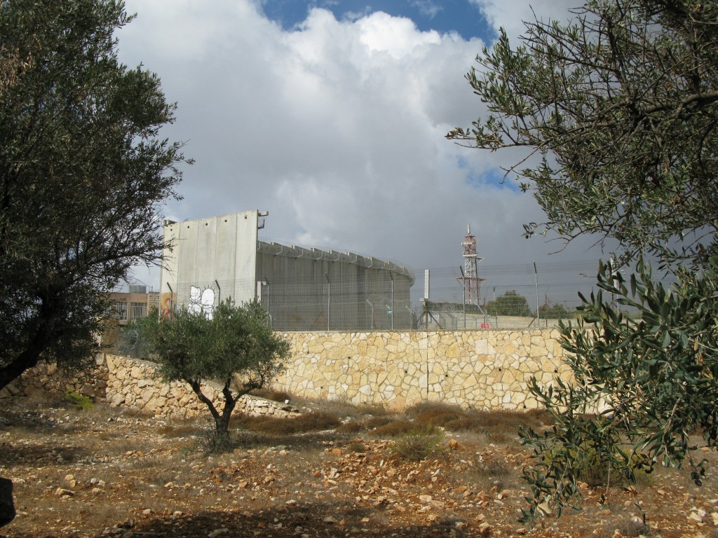 Muren mellan Betlehem och Jerusalem.