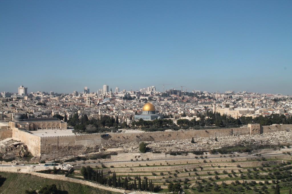 Jerusalem sett från Oliverget.