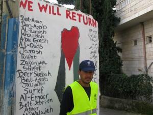 Ahmed Aida Hosen i flyktinglägret Aida.