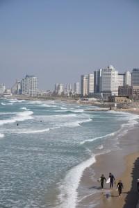 Frihet! Stranden i Tel Aviv.
