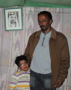 Tre generationer Jahalin, Muhammed (fotot), Attalah och hans son Axel.
