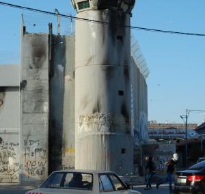 Pojkarnas angrepp på det fula vakttornet på Jerusalem Hebron Street.