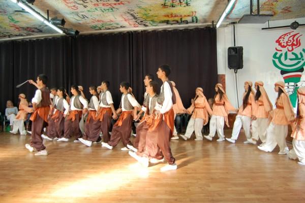 Dansgruppen från Ibdaa Cultural Center i Dheishe flyktinglägret, Betlehem.