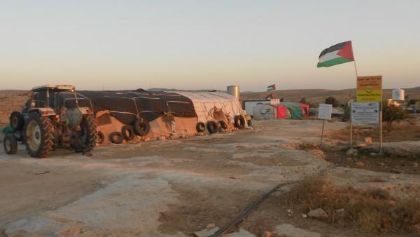 Den palestinska byn Susiya som hotas av rivning.