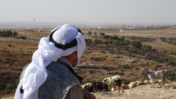 Fåraherde Khaled al-Najr bor i byn Qawawis i South Hebron Hills.