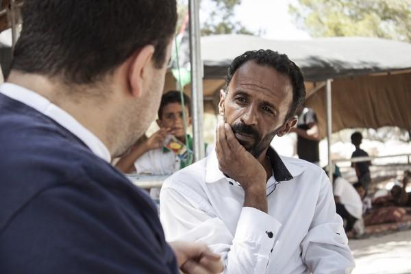 Atallah Jahalin samtalar med Munir Nuseibeh, Direktör för Human Rights clinic på al-Qudsuniversitetet.
