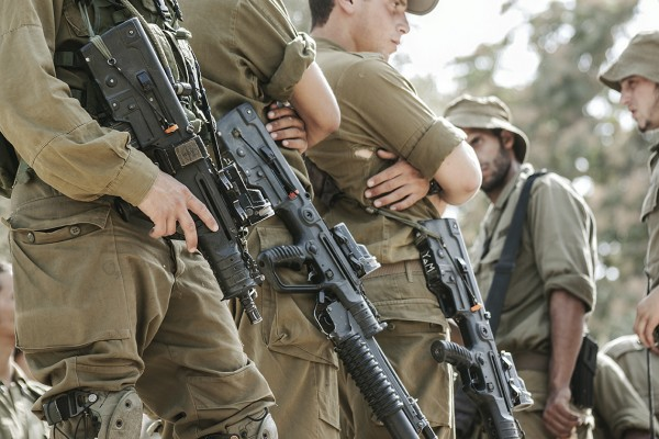 Soldater på vakt i Hebron.
