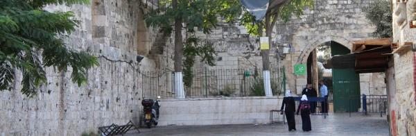 Porten till al-Aqsaområdet vid Lejonporten är öppen. Foto: Sofia Magnusson