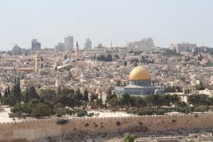 Den vackra och delade staden Jerusalem. Foto: Sofia Magnusson