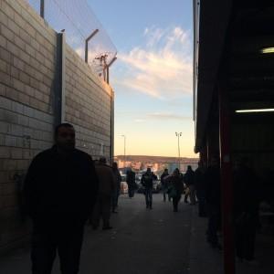 Utsikt från Qalandiya mot Ramallah. Foto Malin Andrén