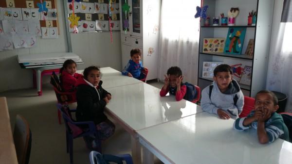 Förskoleklassen i al-Mujaratta. Foto: M. Claesson.