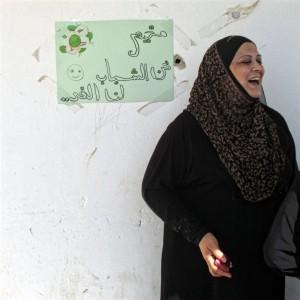 Jemile Abu al-Hazel i flyktinglägret Aqbat Jaber Foto: Sofia Claesson.