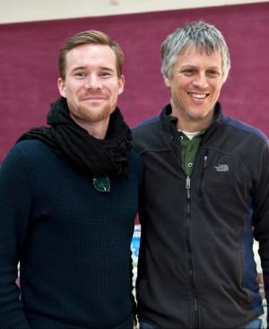 Följeslagaren Eric Röst och Eric Yellin från Other Voice. Foto: Peter Morgan