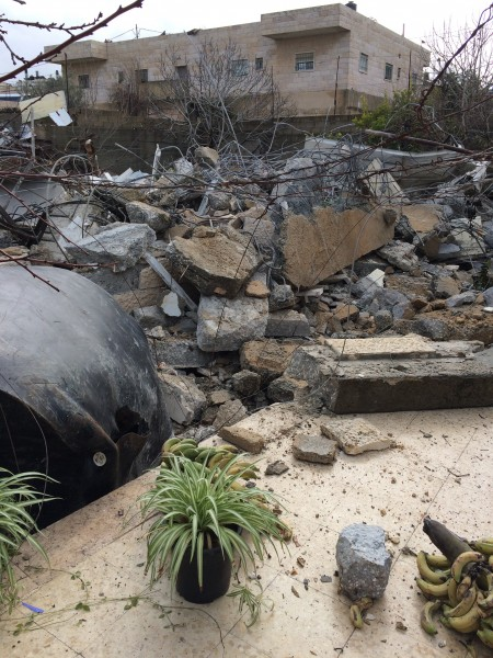 När bulldozern är färdig återstår inte mycket av huset. Träd har ryckts upp med rötterna och husets väggar har blivit spillror. Foto: Malin Andrén