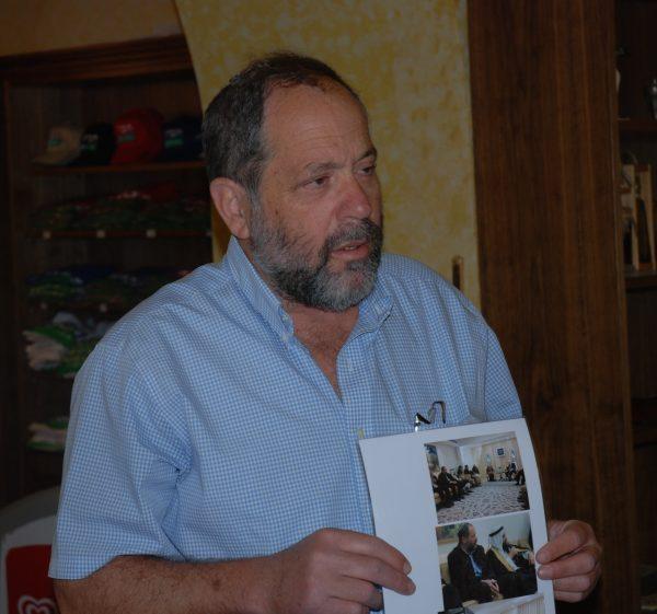 Bosättarnas talesperson i Beit Hadassah Noam Aron, 4 maj 2016. Foto: Karl-Göran Sundvall