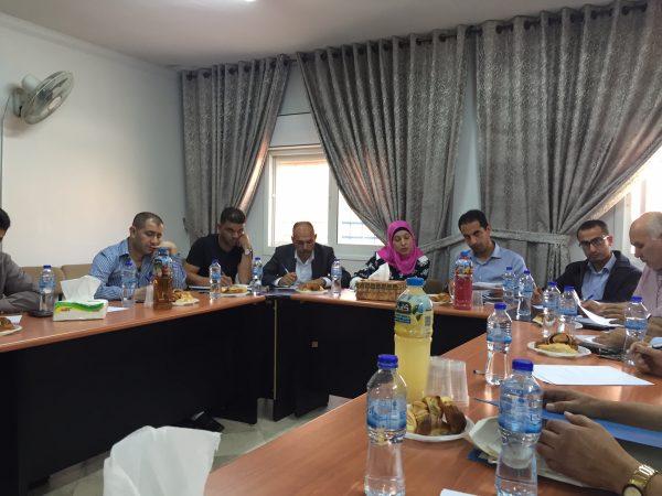Strategimötet hos USM Palestine är i full gång. Foto: Christer Wik