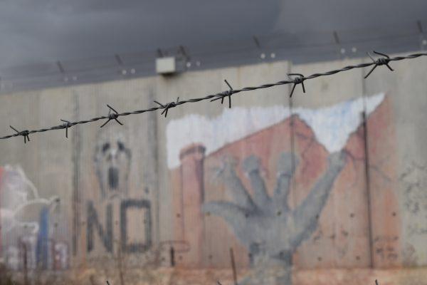 Muren strax utanför Qalqiliya. Foto Malin